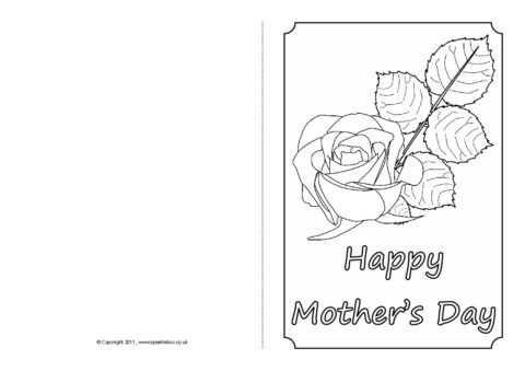 Mothers Day Card Colouring Templates Sb4359 Sparklebox