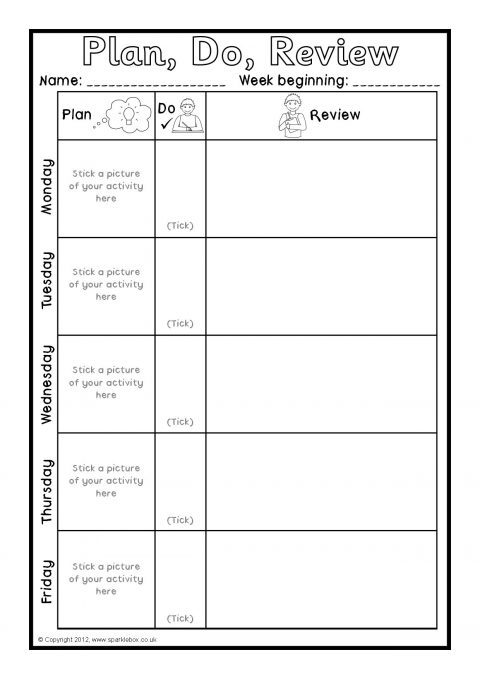 weekly plan  do  review sheets