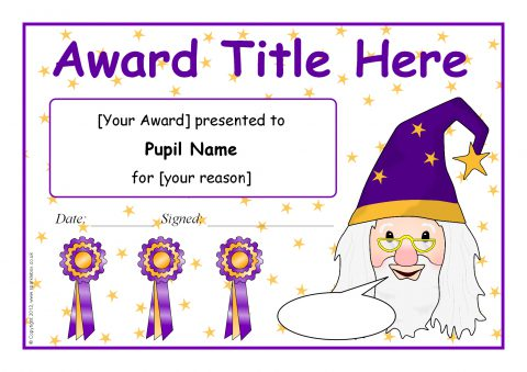 Editable Wizard-themed Certificate Templates (SB9598 ...