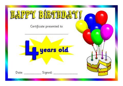 Birthday Certificates (SB3014) - SparkleBox