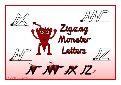 View Preview Letter Formation Posters – Cursive (SB10004) - SparkleBox