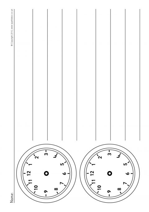 blank clock worksheets sb7466 sparklebox. Black Bedroom Furniture Sets. Home Design Ideas