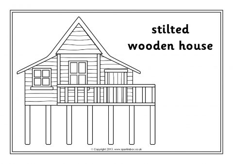 Houses and Homes Colouring Sheets (SB10056) - SparkleBox
