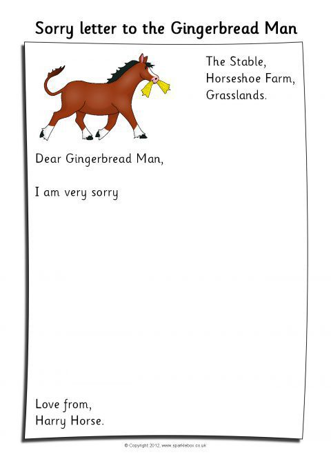 Sorry Letter Writing Templates From The Characters In The
