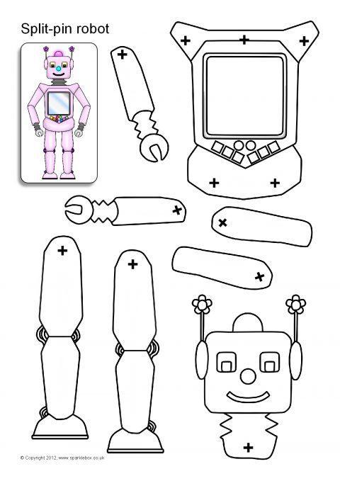 split pin robot characters sb8960 sparklebox. Black Bedroom Furniture Sets. Home Design Ideas