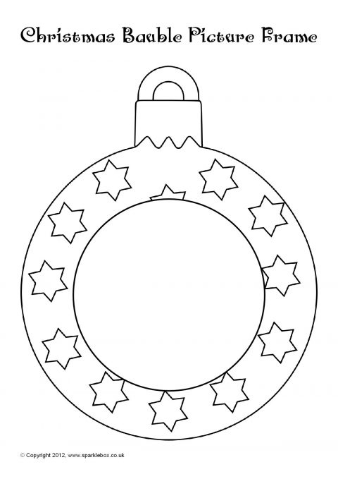 coloring pages christmas baubles - photo#31