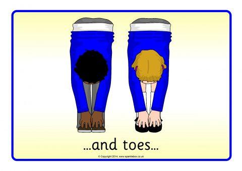 head shoulders knees toes visual aids sb sparklebox