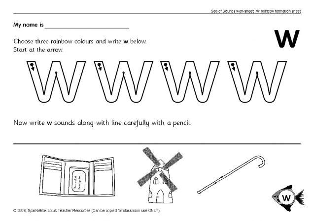 Letter w Worksheets SB503 SparkleBox – Letter W Worksheets