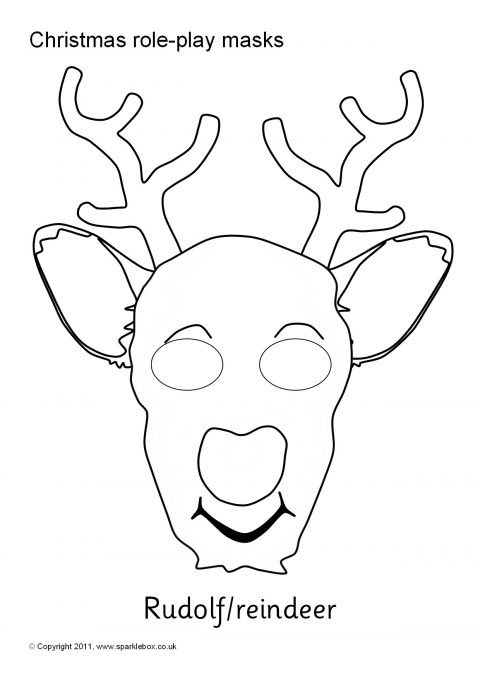 A Set Of Printable Christmas Character Masks For Role Play