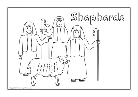 Nativity Story Colouring Sheets