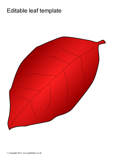 editable leaf templates  sb7207