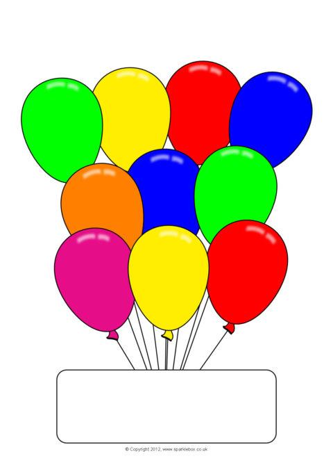 editable party balloon worksheet templates  sb7398