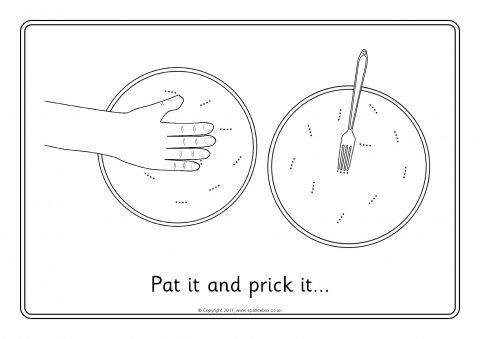 pat a cake coloring pages - photo#17