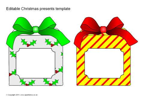 Editable Christmas Present/Gift Templates (SB6623 ...