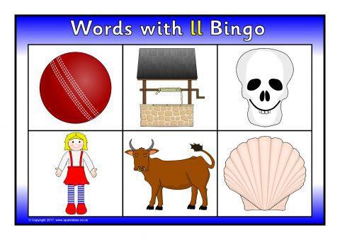 Words with ll Bingo (SB11827) - SparkleBox