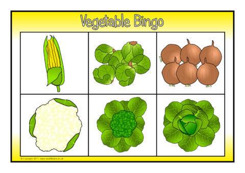 vegetable bingo sb6676 sparklebox