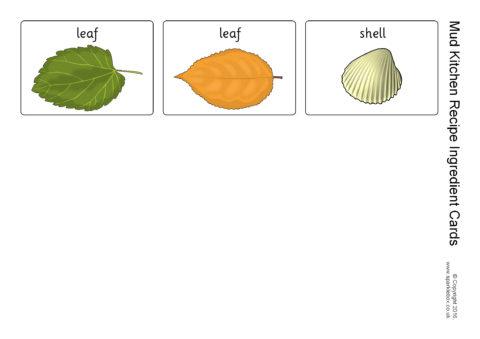 Mud Kitchen Recipe Ingredient Cards (SB11579) - SparkleBox