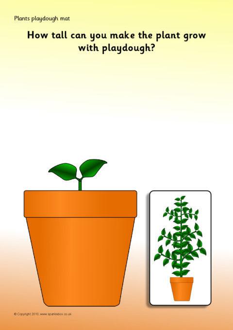 Plants Playdough Mats Sb3196 Sparklebox