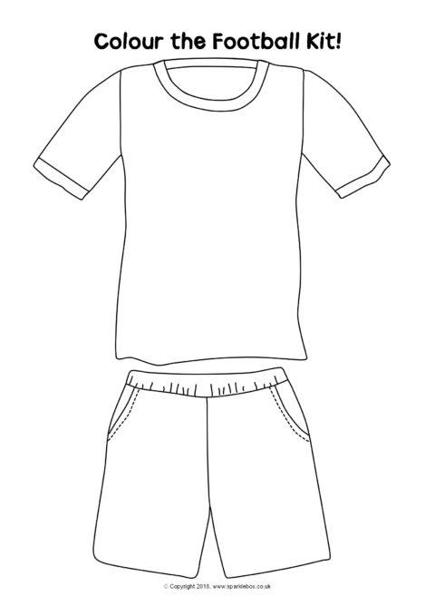Football Kit Colouring Sheets (SB234) - SparkleBox