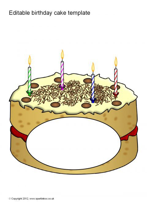 Editable birthday cake templates sb7612 sparklebox preview pronofoot35fo Choice Image