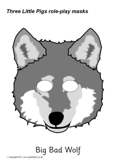 It is a picture of Printable Wolf Mask pertaining to werewolf mask