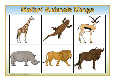 Safari Animals Bingo (SB7811) - SparkleBox