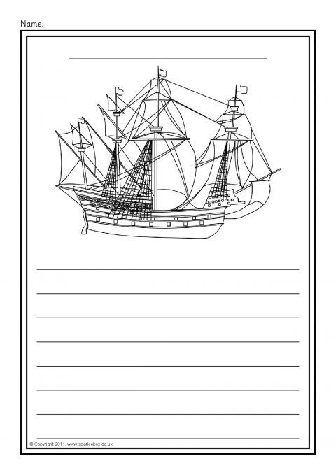 Pirate Colour And Write Worksheets Sb5779 Sparklebox
