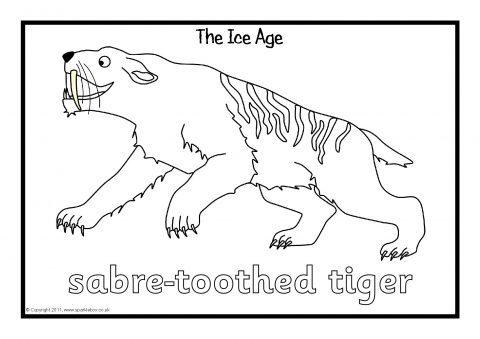 ice age colouring sheets sb4025