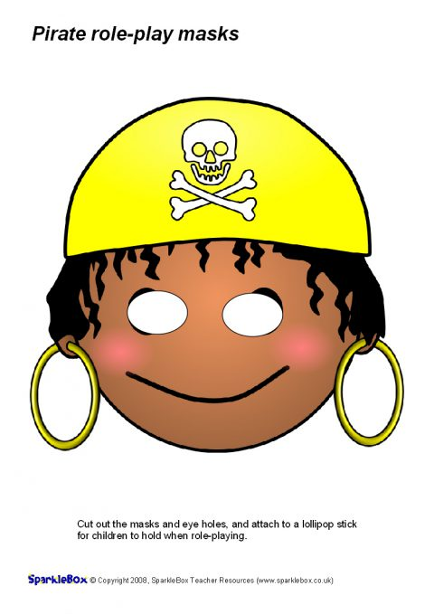 Pirate Role Play Masks Sb1177 Sparklebox