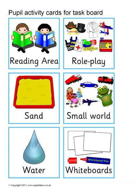Pupil Activity Cards for Task Board (SB1989) - SparkleBox