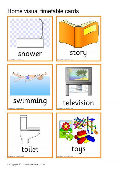 visual timetable for home  sb1801