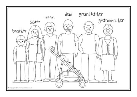 esl coloring pages family traditions - photo#13