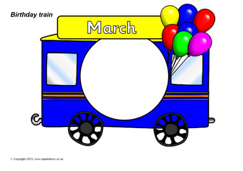 Birthday train display set sb7299 sparklebox for Birthday chart template for classroom