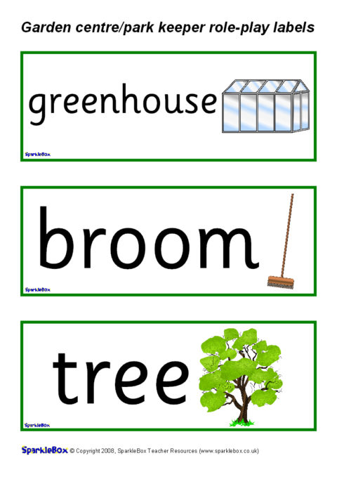 Garden Centre/Park Keeper Labels (SB1299) - SparkleBox