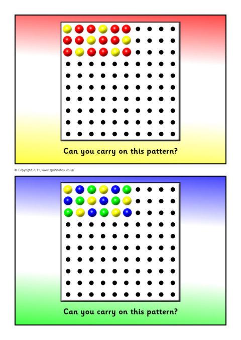 Peg Board Pattern Cards SB5979 SparkleBox
