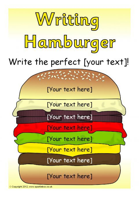 Editable writing hamburger templates sb7319 sparklebox preview pronofoot35fo Choice Image