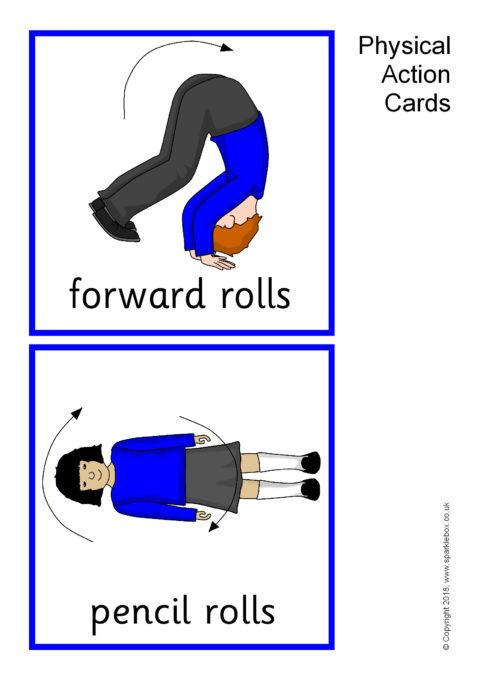 Physical Action Cards (SB3161) - SparkleBox