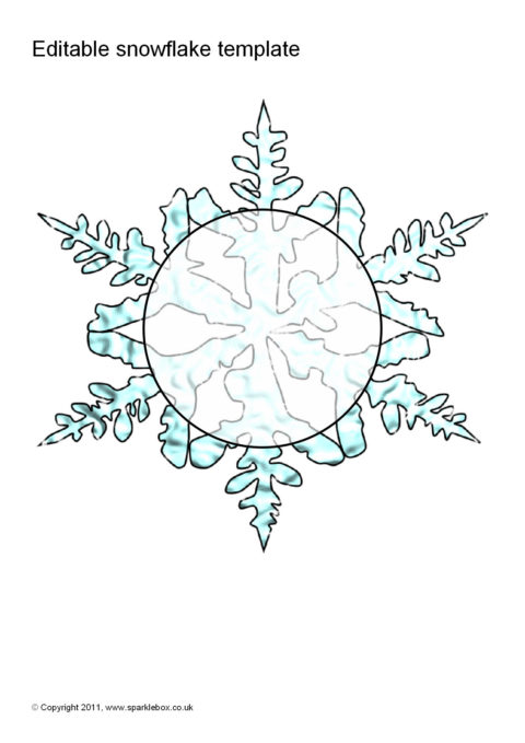 snowflake template uk  Editable Snowflake Template (SB7) - SparkleBox