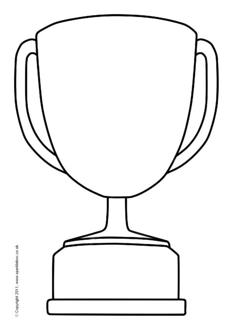 photo regarding Printable Trophy Labels titled Editable Trophy Templates (SB5420) - SparkleBox