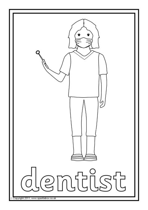 Terms Of Use >> A set of simple colouring sheets featuring various people who help us.