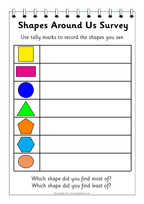 Terms Of Use >> Shapes Hunt and Survey Worksheets