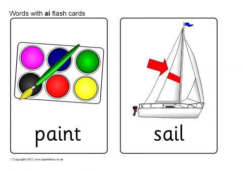 Sb8555 Words With Ai Flash Cards on Alphabet Flash Cards