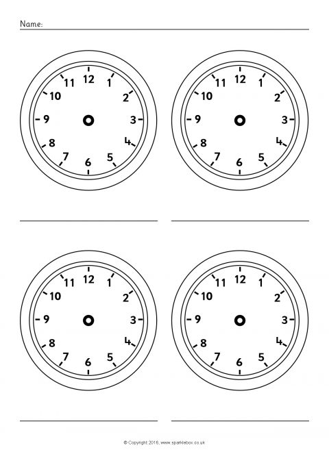 more blank clock worksheets. Black Bedroom Furniture Sets. Home Design Ideas