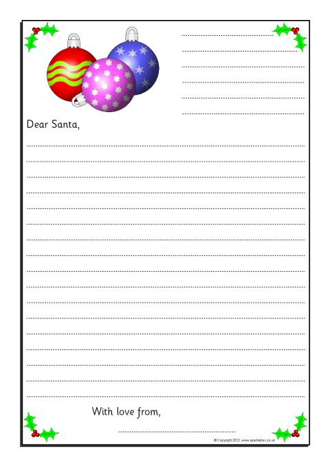 Letters to santa writing frames sb9017 sparklebox preview spiritdancerdesigns Images