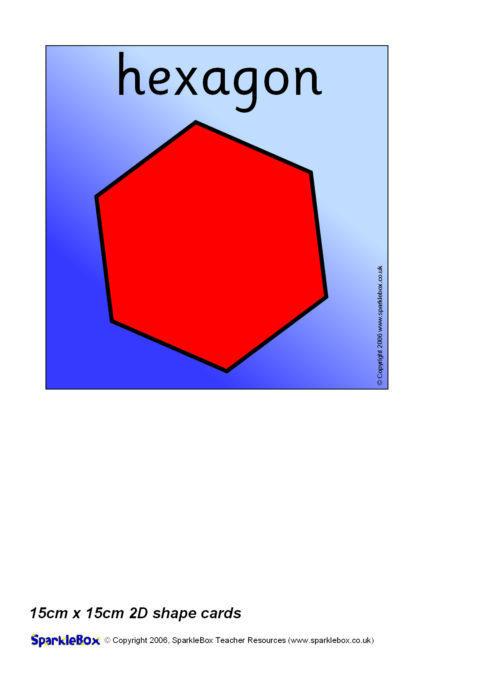 fe5b65c69 15cm x 15cm 2D Shape Cards (SB255) - SparkleBox