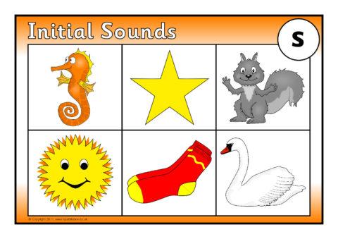 Initial Sounds Bingo: s (SB6728) - SparkleBox