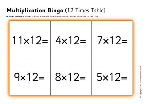 It's just an image of Printable Multiplication Bingo for fun