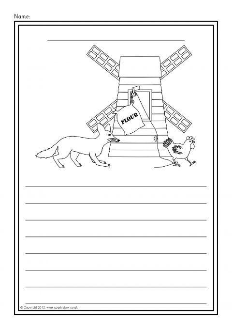 Rosie S Walk Colour And Write Worksheets Sb7801 Sparklebox