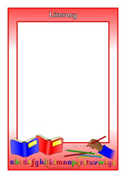 EYFS Areas of Learning Page Borders – Portrait (SB8562) - SparkleBox