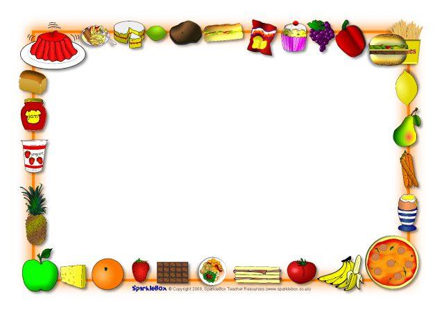 Food-Themed A4 Page Borders (SB3888)
